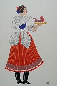 -2-5-20 Gravure Costume De Paysanne De Boldog Hongrie
