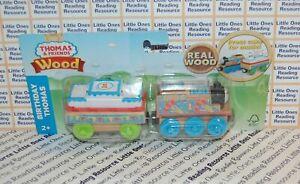 2018-Thomas-amp-Friends-Wood-Wooden-BIRTHDAY-THOMAS-Train-Fisher-Price-FHM61