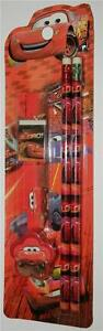 Mini-5-Piece-Stationary-Set-With-Cartoon-Cars-Colour-Red