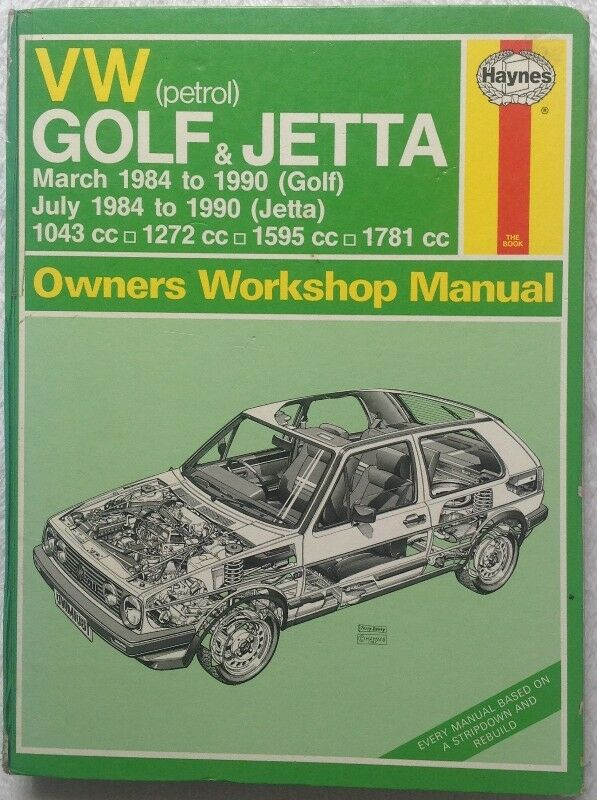VW GOLF & JETTA Owners Workshop Manual (Petrol) - Hardcover