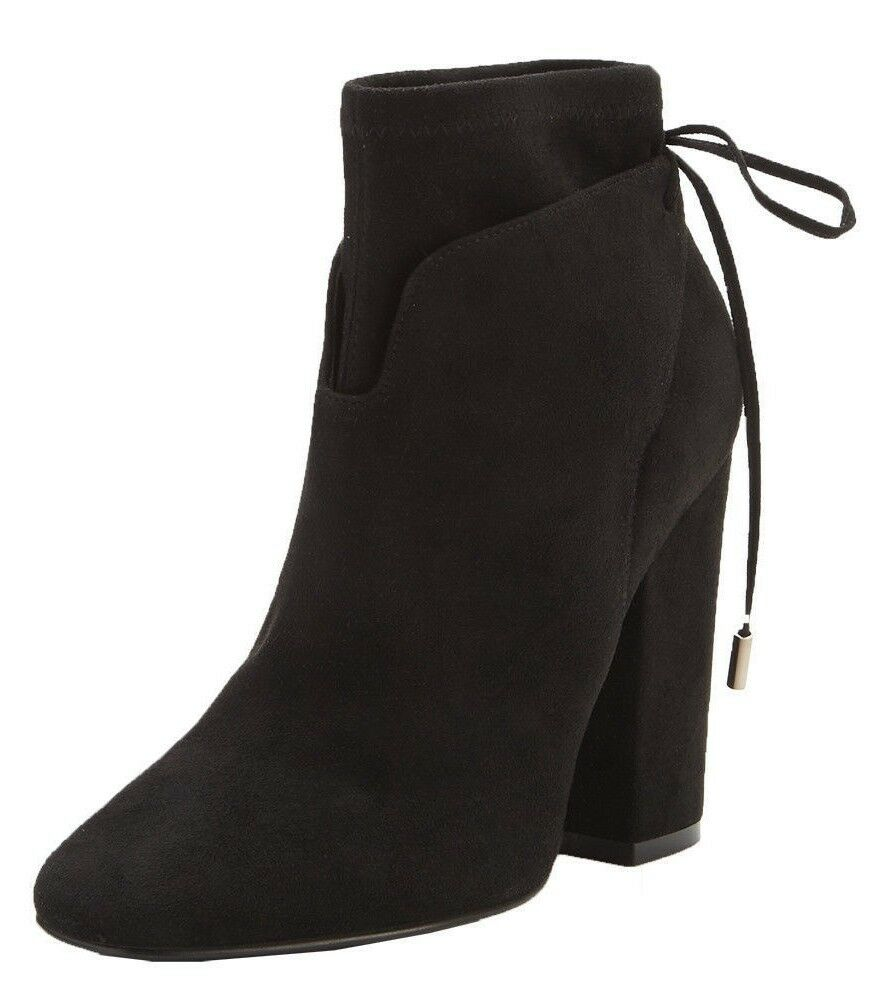 KENDALL & KYLIE ZOLA BLACK REAL LEATHER SUEDE HIGH HEEL ANKLE BOOTS SIZE 8