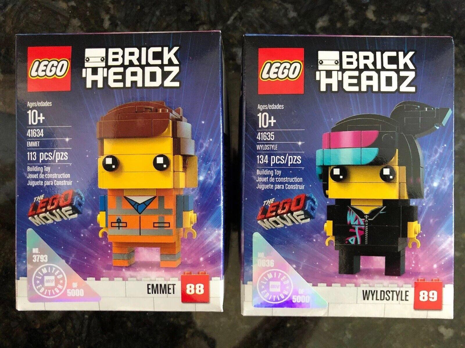 Lego 41634 y 41635 brickheadz Emmet Wyldstyle Lego La Película Edición Limitada 2