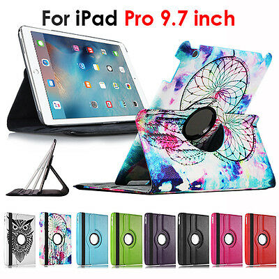 iPad Pro 9.7 inch Case For Apple 360° Rotate Leather Stand Cover Smart Flip