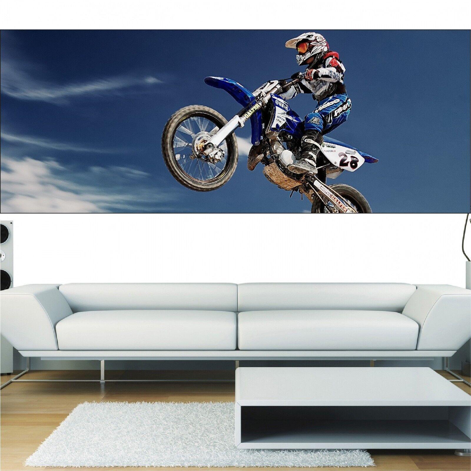 Papel pintado panorámica Motocross 3697 Arte decoración Pegatinas