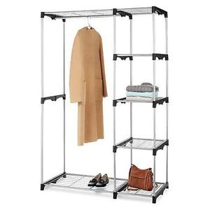 Gentil Image Is Loading NEW Whitmor Double Rod Freestanding Closet  Wardrobe Organizer