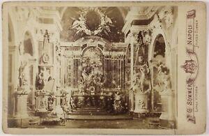 Cappella Eglise Italia Foto Sommer PL17c2n46 Cartolina Armadio Vintage Albumina