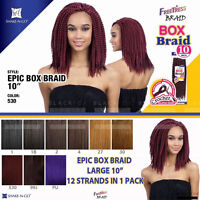 Freetress Epic Box Braid Large 10 Crochet Pre-looped Synthetic Braiding Hair