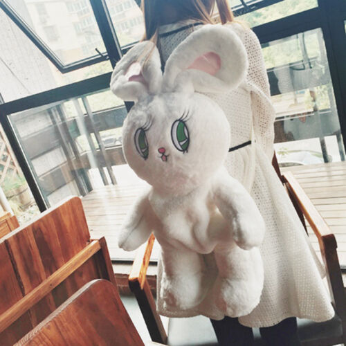 Women Kawaii Lolita Plush Rabbit Doll Backpack Girls Large Bunny Shoulder Bags