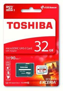 32GB-Toshiba-90MB-s-U3-Micro-SD-Tarjeta-de-memoria-para-Aukey-DR-01-Camara-en-Tablero