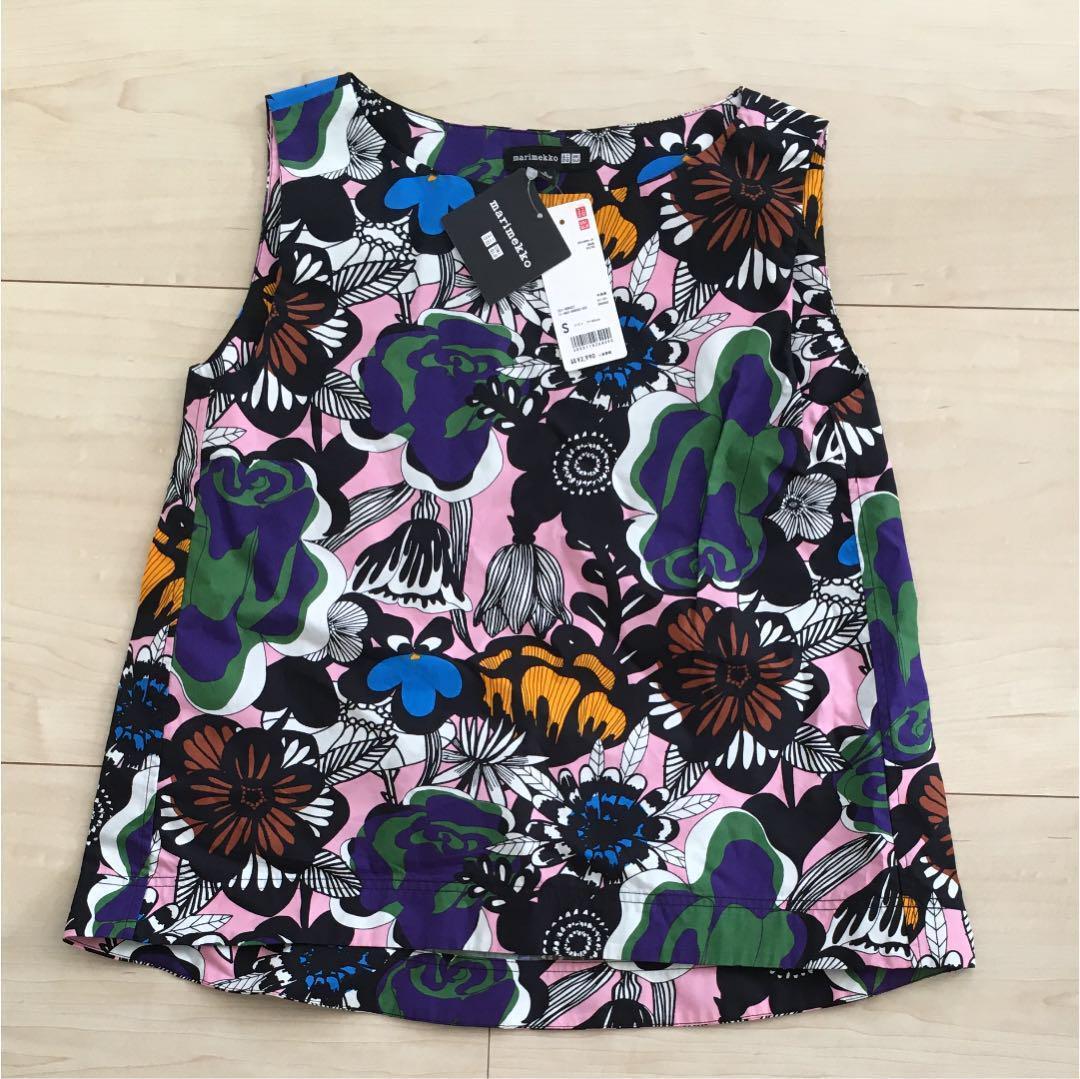 UNIQLO × Marimekko Blouse Sleeveless Kukkia rakkaalle woman S - 3XL japan F S