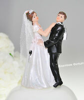 Wedding Couple Figurine Bride And Groom Lock Resin Bridal Cake Decoration 4