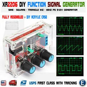 XR2206 Function Signal Generator Welded Assembled Sine Output 1HZ-1MHZ +DIY Case
