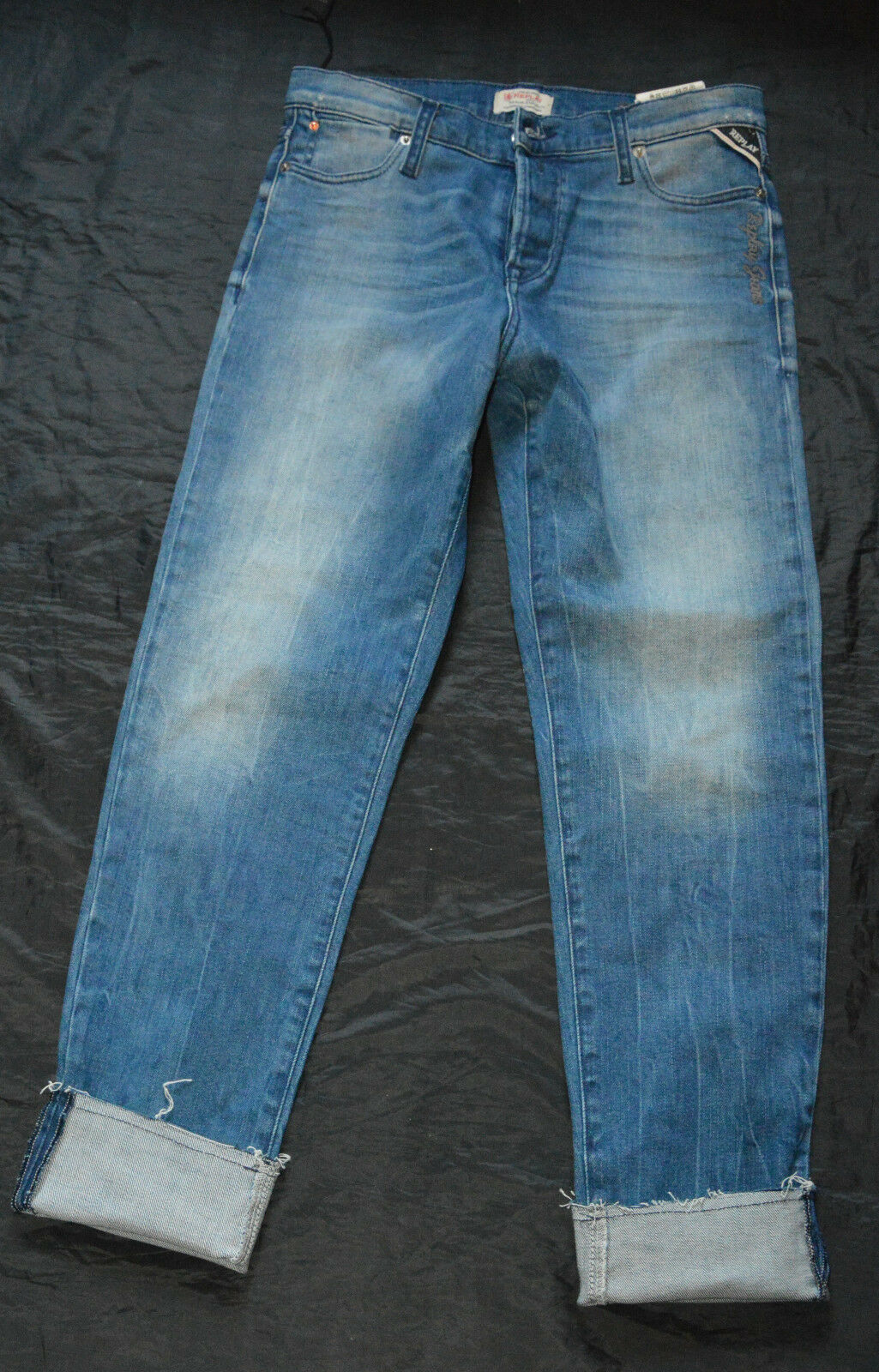 2ca3d9d36a045 Replay Madiespa Stretch Jeans Hose S 36 W26 NEU nahblm439-Jeans ...