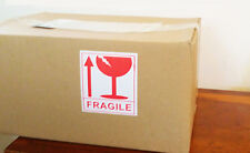 6 X LARGE FRAGILE PACKAGE HANDLE WITH CARE HAZARD WARN SIGN ADHESIVE STICKERS