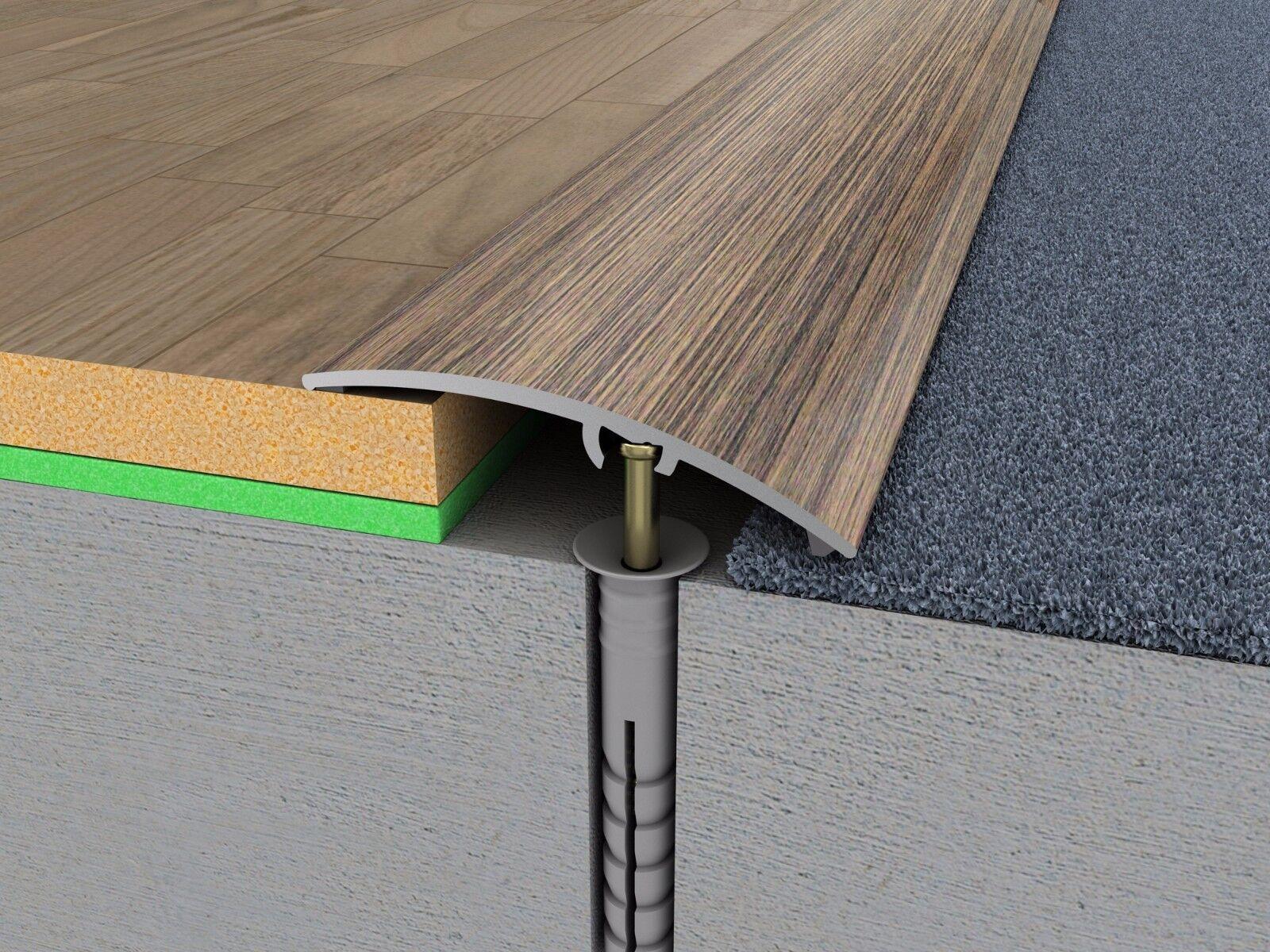 Laminate floor transition strips