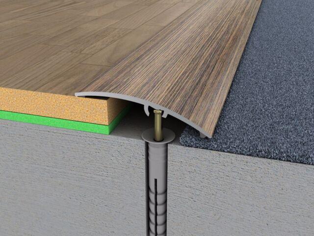 Aluminium Door Bars Threshold Strip Transition Trim Laminate Tiles 47 Mm X 90 Cm