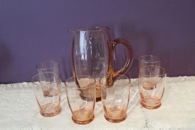 VINTAGE PINK DEPRESSION GLASS 7-1/2