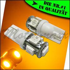 5 SMD,LED,Gelb,Yellow,Orange,T10 Standlicht,w5w,Beleuchtung,Innenraumbeleuchtung