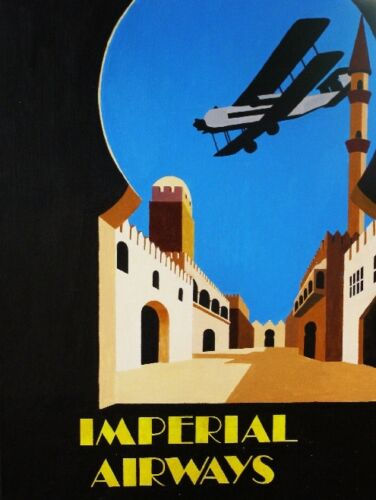 Imperial Airways Great Britain Vintage Travel Advertisement Poster Picture Print