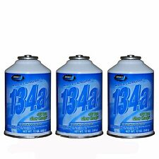 3 New Johnsen's  R-134a AC Refrigerant + UV Dye Glow Charge 12oz Can