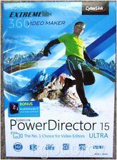 Cyberlink PowerDirector 15 Ultra with BONUS AudioDirector 6 - Sealed Retail Box
