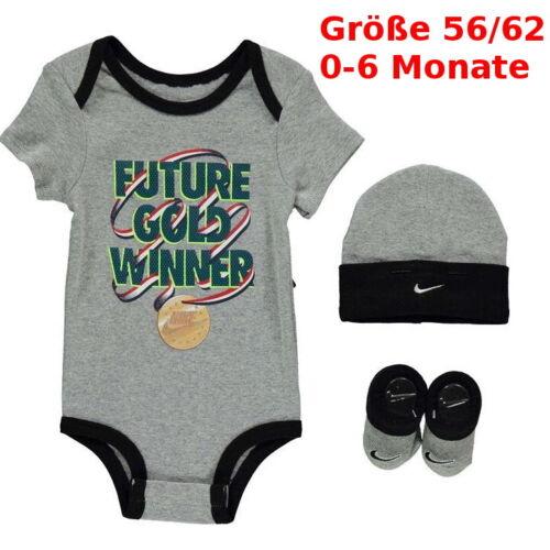 Nike Baby Geburt 3er Geschenkset Junge Gr.56 Mütze Body Schuhe Geschenk Neugebor