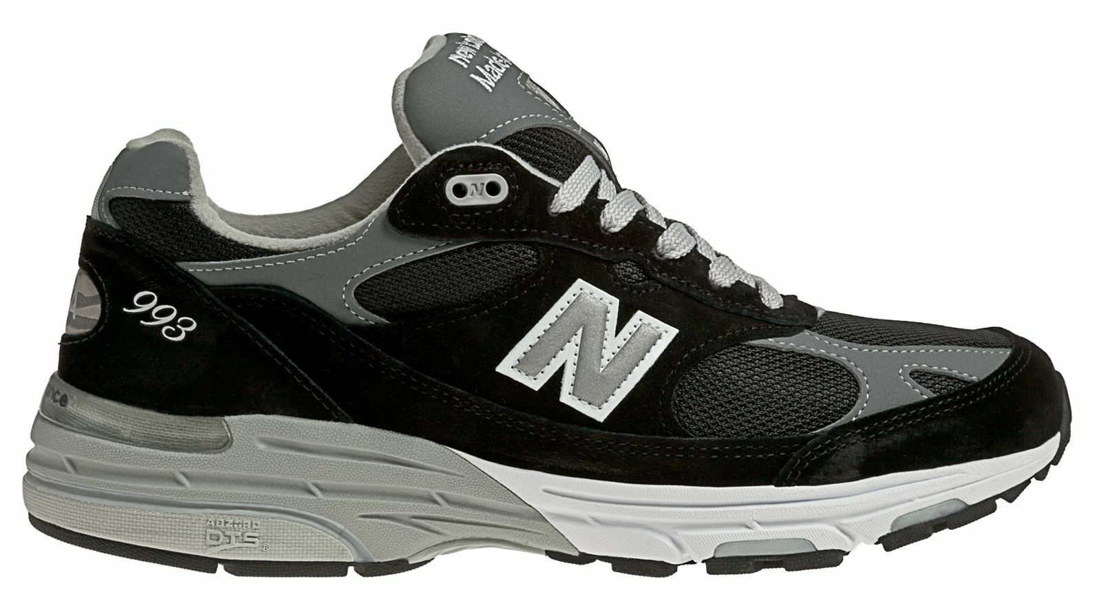 New Balance Male Men's Classic 993 Running Comfort Adult Black With Grey