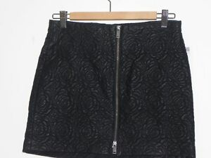 05888dac Details about NWT ZARA BLACK FAUX LEATHER FLORAL EMBROIDERED MINI SKIRT  FRONT ZIP SIZE MEDIUM