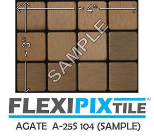 Details about Sample- FLEXIPIXTILE -Peel & Stick Kitchen Backsplash Bath  Accent Wall-Agate