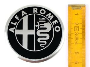 alfa romeo 4 st ck aluminium 60mm aufkleber emblem. Black Bedroom Furniture Sets. Home Design Ideas