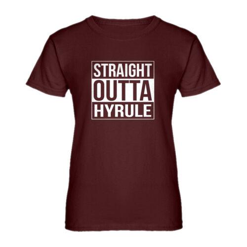 Womens Straight Outta Hyrule Short Sleeve T-shirt #3659