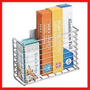 mDesign-AFFIX-Kitchen-Wrap-Holder-Self-Adhesive-Steel-Kitchen-Organiser-Basket
