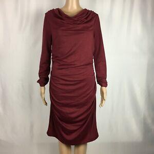 New-Stitch-Fix-Renee-C-Long-Sleeve-BodyCon-Maroon-Dress-Large-NWoT