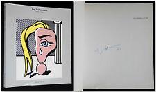 Signed Roy Lichtenstein 1970-1980 Autografato 1982 Electa