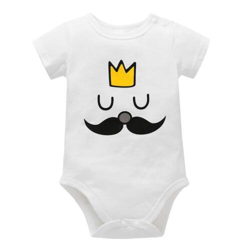 Newborn Baby Unisex Romper Bodysuit Jumpsuit Cotton O-Neck Summer Outfit Clothes
