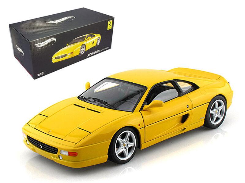 1 18 Hot Wheels Ferrari F355 Berlinetta Elite Edition Diecast Model giallo X5479