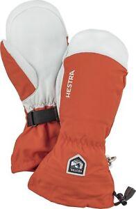 2020 Men Hestra Army Leather Heli Ski Mitten Mitt Ski Gloves Size 11 Brick 30571