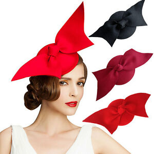 169af03cf1a Image is loading Angel-Wings-034-Ladies-Felt-Wool-Fascinator-Cocktail-