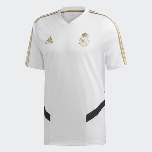 adidas 2019-20 Real Madrid Training Jersey White-Gold