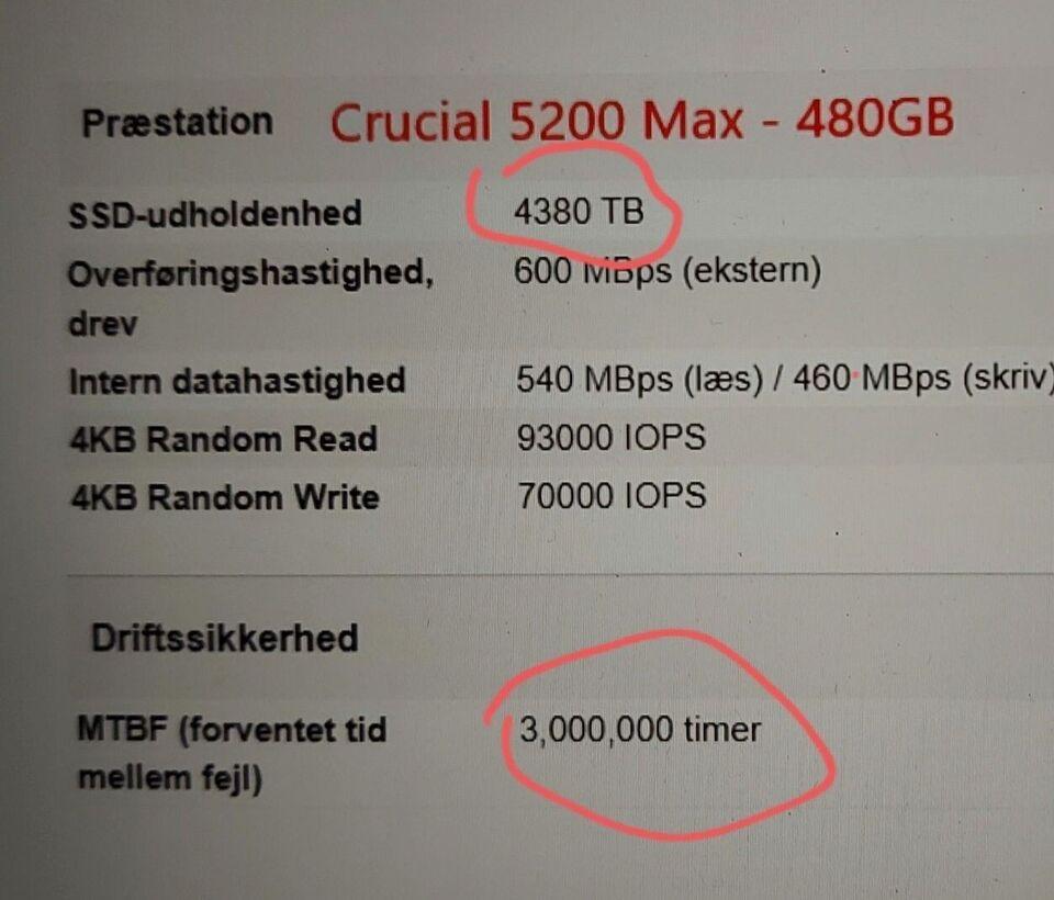 Crucial, 480 GB, Perfekt