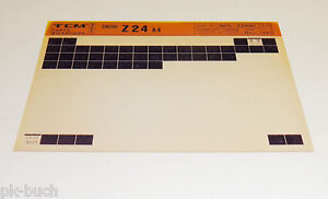 Microfich Spare Parts Catalog Tcm Fork-Lift Motor Z 24 A4 Stand 05/1993
