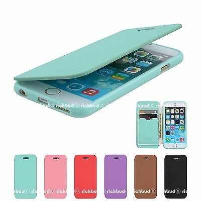 New Leather Wallet Jelly Flip Slim Case Cover For Apple iPhone 5 5S 5C 6 6 Plus