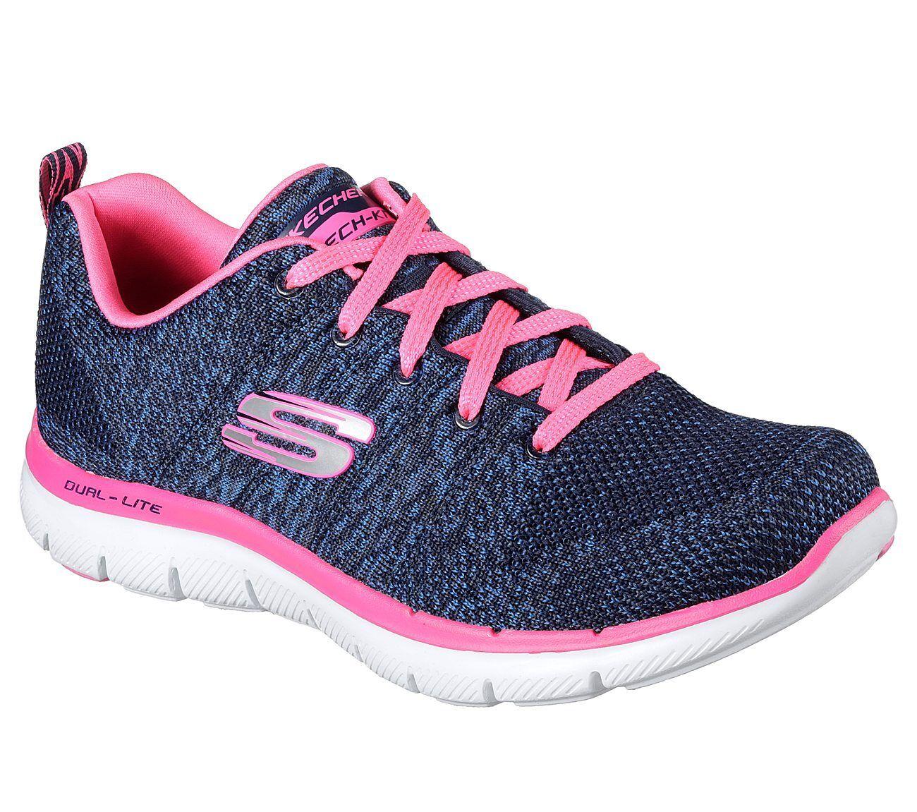 NEU SKECHERS Damen Damen SKECHERS Sneakers FLEX APPEAL 2.0-HIGH ENERGY Blau 61fe8b