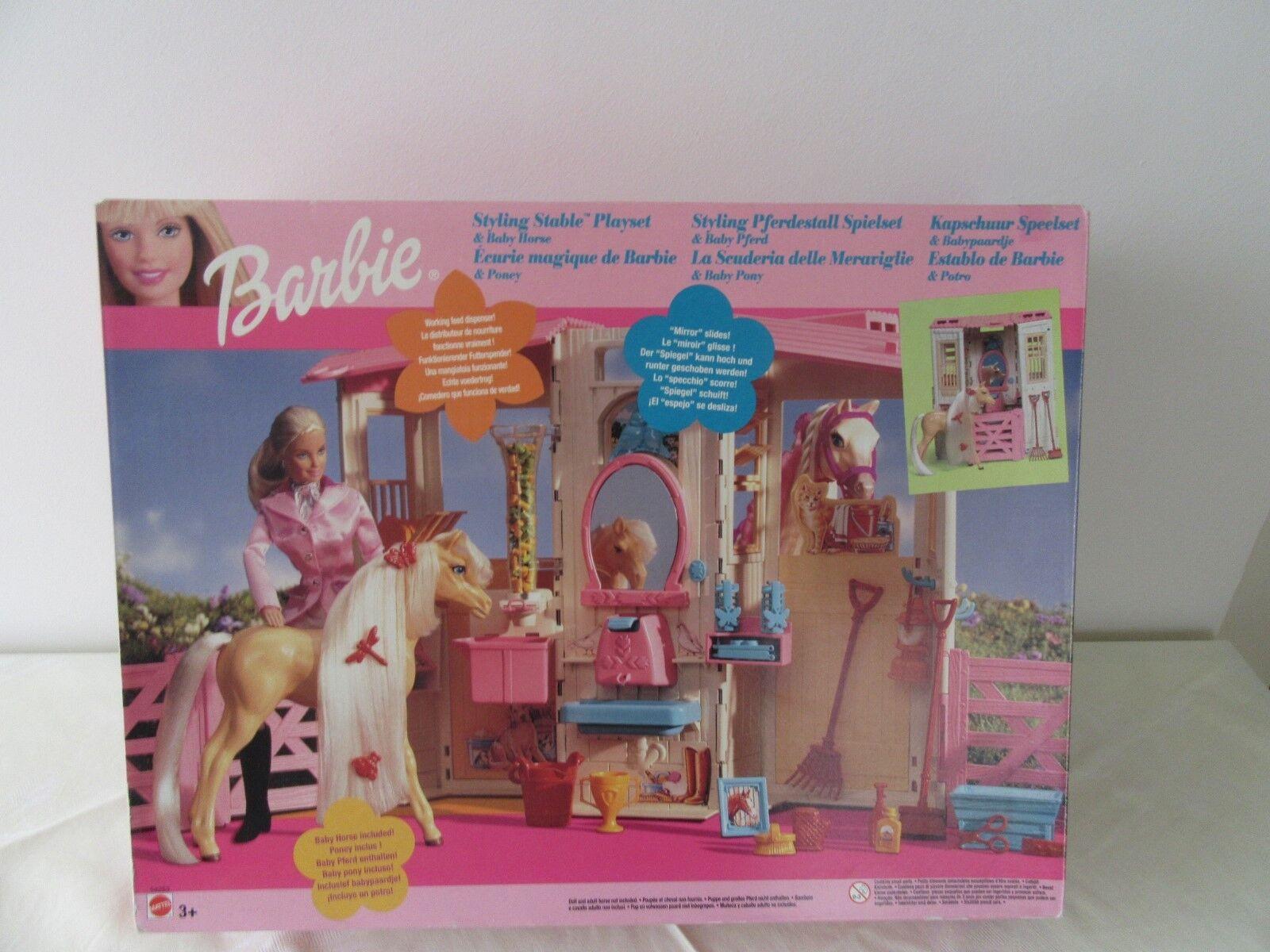Barbie  Kapschuur Speelset &bambinopaardje , Mattel 54253   negozio di moda in vendita