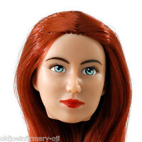 Fembasix Cg Cy Girl Lia Female Figure Head Red Hair Tan Skin 1:6 Scale