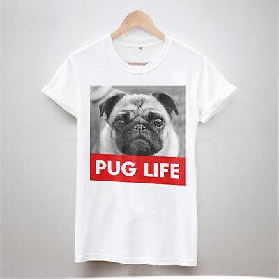 PUG LIFE TSHIRT T SHIRTS DOPE HIPSTER SWAG DOG MENS WOMENS TOP FASHION