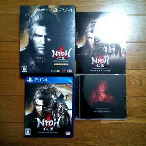 PS4-video-game-with-Mini-Soundtrack-CD-Booklet-Nioh-Complete-Edition-used