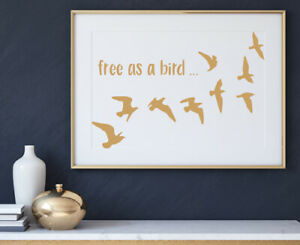Seagals Bird Stencil Template Paint Furniture Home Decor Card making Crafts AN13