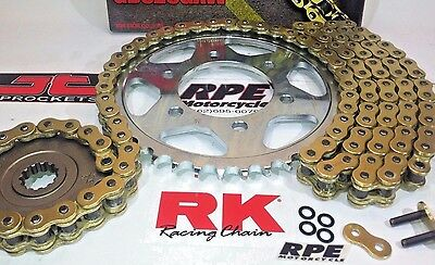 2000-2006 Honda RC51 RVT1000R RK GXW Gold 520 Chain and Sprocket Kit