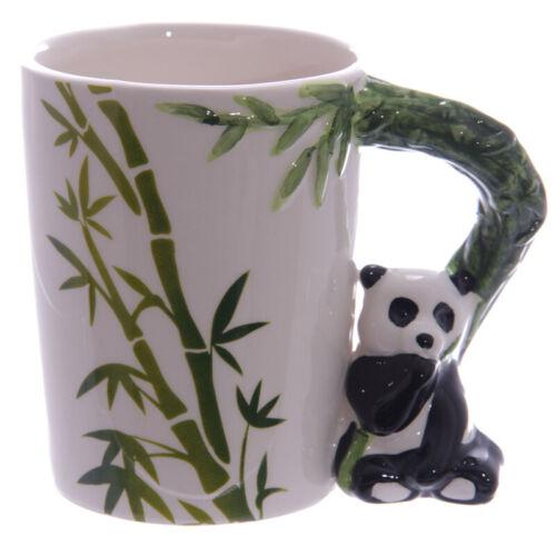 5 Styles Cute Animal Cup Panada Parrot Frog Toucan Giraffe Handle Ceramic Mug